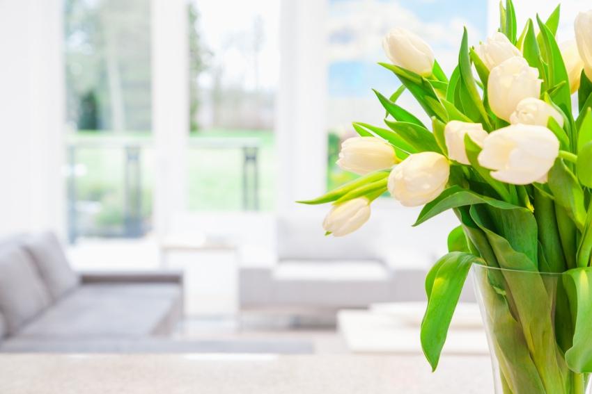 花が豊かな春のインテリア