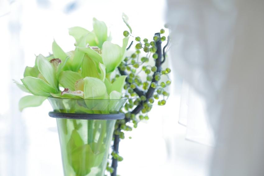 花と家具や小物が溶け込む癒し空間