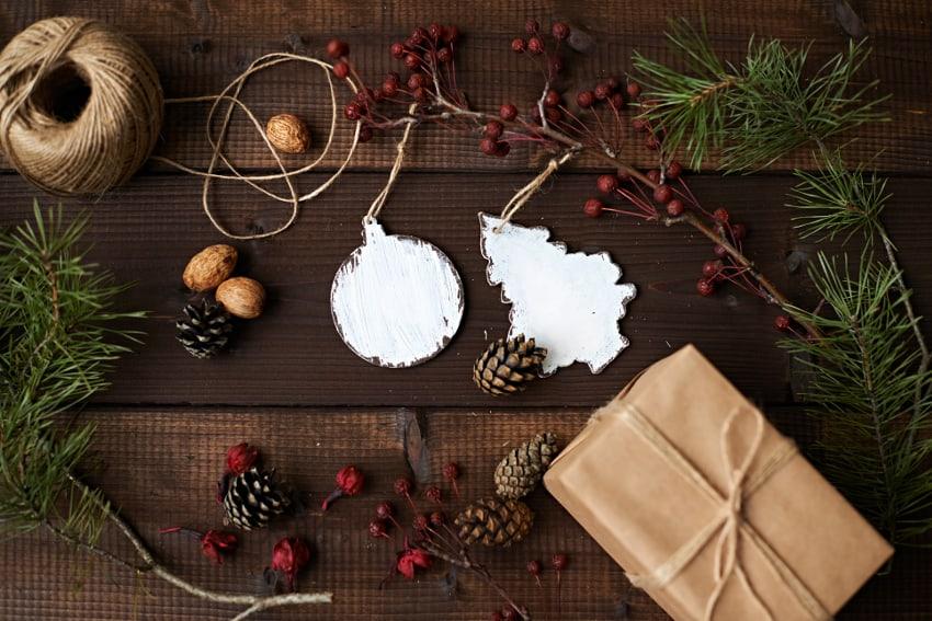 クリスマス仕様のスワッグの作り方