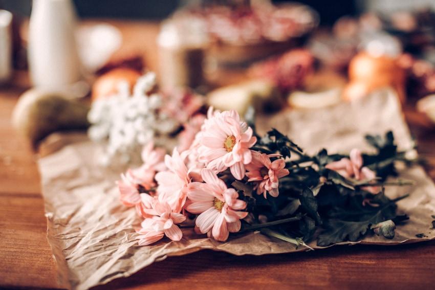 遊び心のある手作り花束もおすすめ