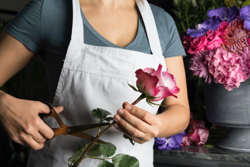花屋は1本から花を購入できる