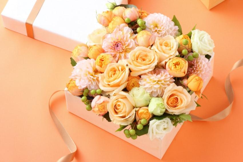 様々な花を選ぶことができる