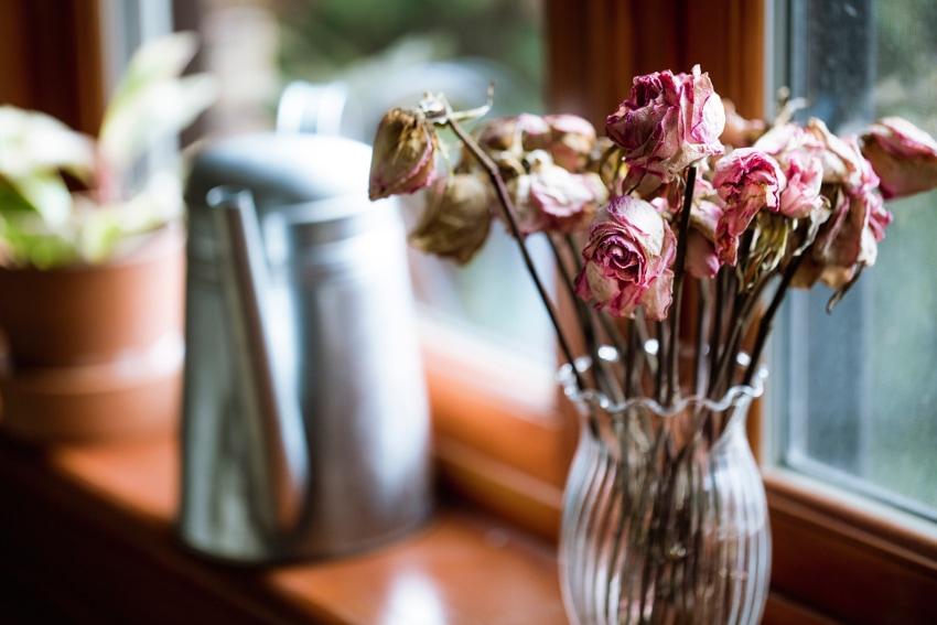 花瓶に入れて飾る