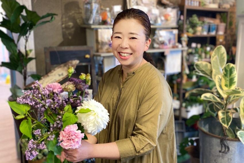 花を贈る人の気持ちも届けられる花屋さんになりたい<br>  – フラワーウォークポポ(富山県射水市戸破)