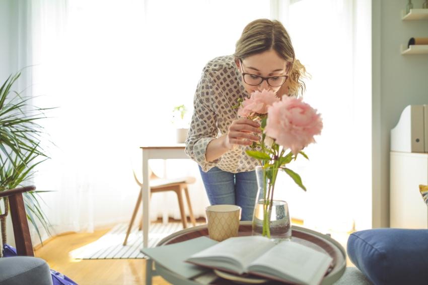 花を取り入れることで癒しの空間に